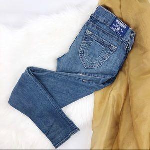 TRUE RELIGION Low Rise Skinny Jeans Size 29